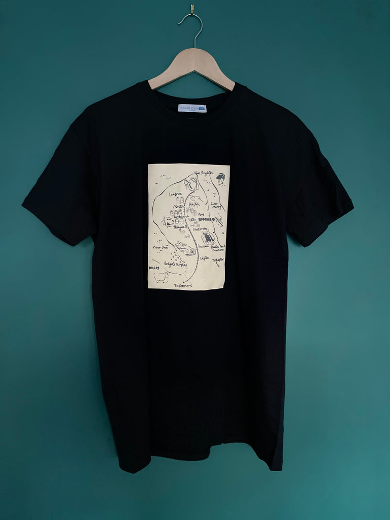 Wirral Map T-Shirt