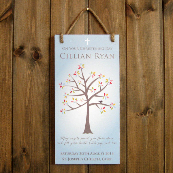 Personalised 'Tree of Life' Christening Plaque