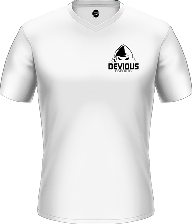 Devious Esports White Basic Jersey - Pocket Logo