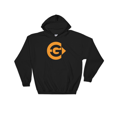 Elegy Gaming Black Hooded Sweatshirt - Middle Logo