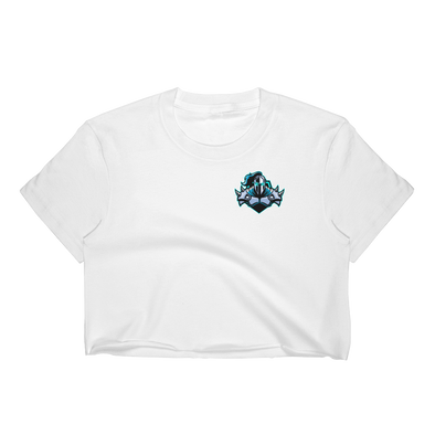 Raging Knights White Women's Crop Top - Pocket Logo