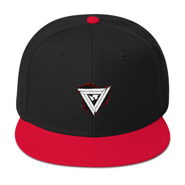 Paradox Red Embroidered Snapback Hat