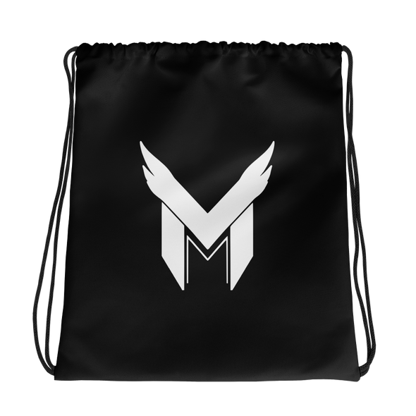 Team Mavarity Black Drawstring bag