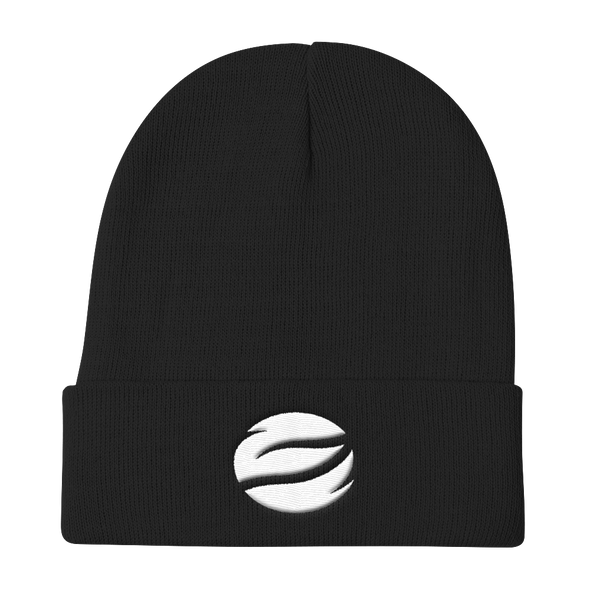 ESGO Black Embroidered Knit Beanie