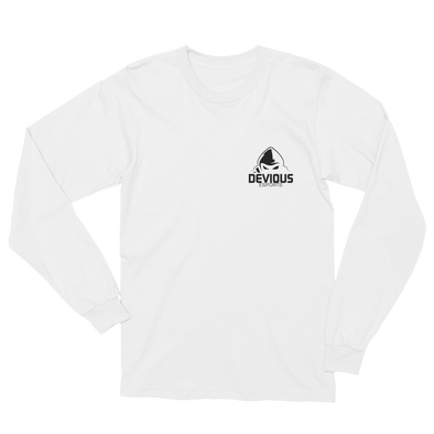 Devious eSports White Unisex Long Sleeve T-Shirt - Pocket Logo
