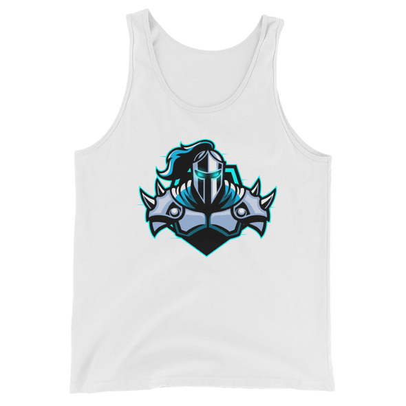 Raging Knights White Unisex Tank Top - Middle Logo