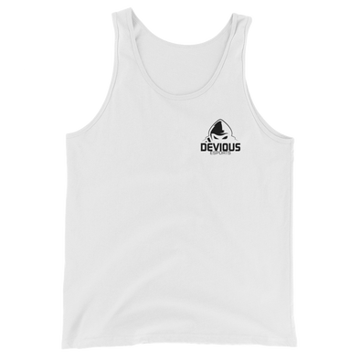 Devious eSports White Unisex Tank Top  - Pocket Logo