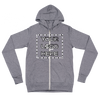 Unisex Zip Hoodie Basic Design Middle Logo (Multiple Colors)