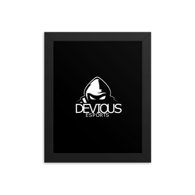 Devious eSports Matte Poster With Frame - Black