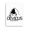 Devious eSports Canvas Poster - White
