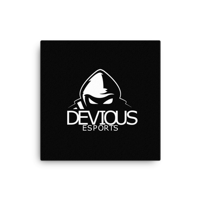 Devious eSports Canvas Poster - Black