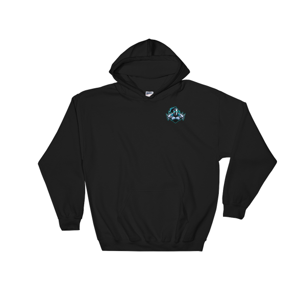 Raging Knights Black Hooded Sweatshirt - Pocket Logo