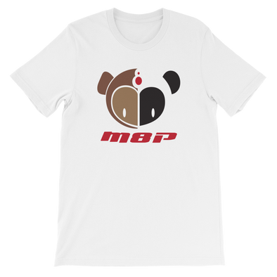 Monkey8panda Basic Unisex White T-Shirt - Middle Logo