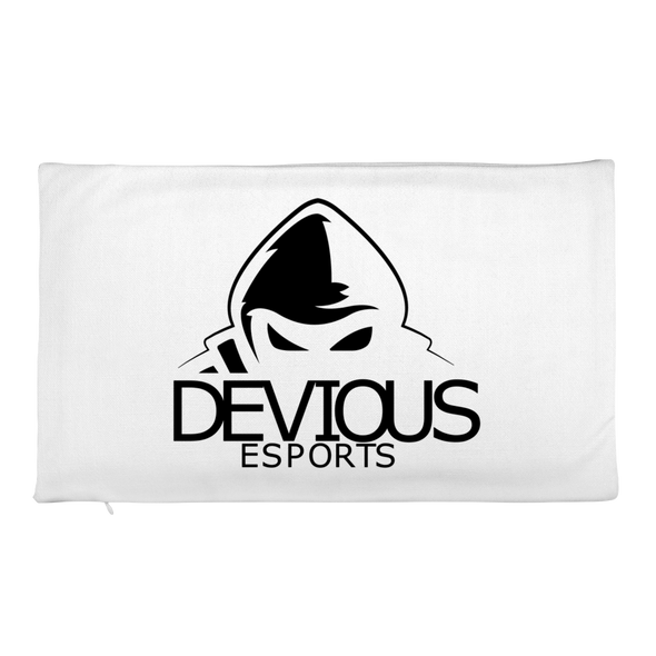 Devious eSports White Rectangle Pillow Case - Case Only