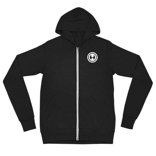 Hail Unisex Zip Hoodie - Pocket Logo - Black