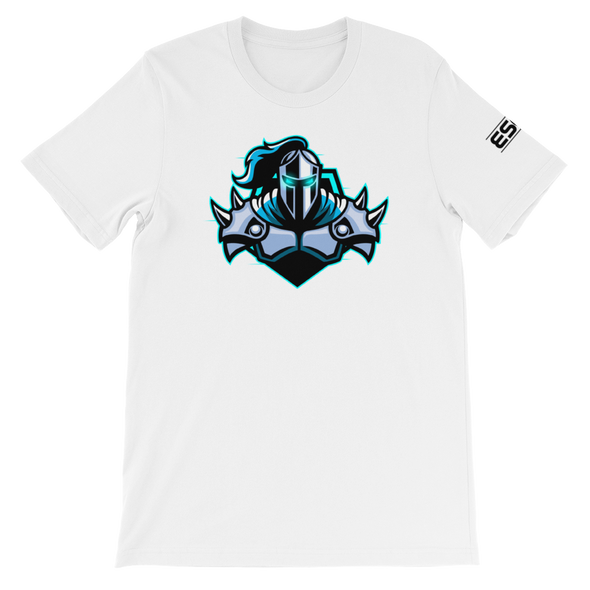 Raging Knights White Unisex T-Shirt - Middle Logo