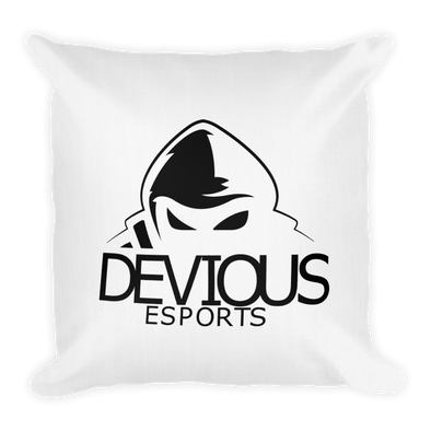 Devious eSports White Square Pillow Case - With Stuffing