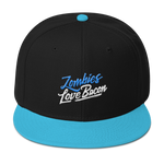 Zombies Love Bacon Blue Snapback Hat