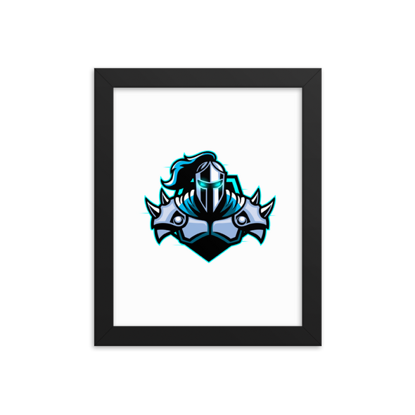 Raging Knights Matte Poster With Frame - White