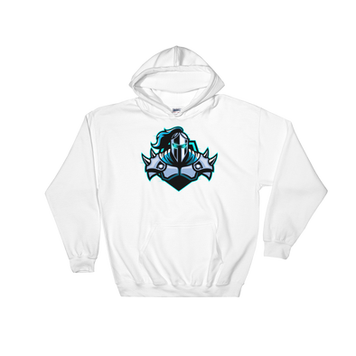 Raging Knights White Hooded Sweatshirt - Middle Logo