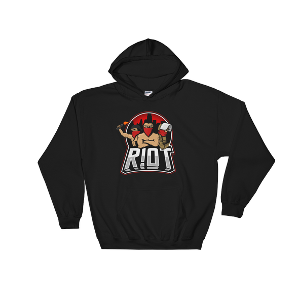 R!OT Gaming Hooded Sweatshirt Middle Logo - Black