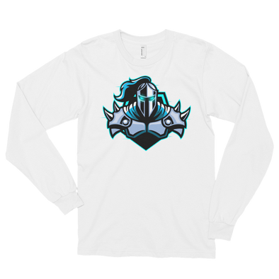 Raging Knights White Long sleeve T-Shirt - Middle Logo