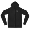 Unisex Zip Hoodie Pocket Logo Basic Design (Multiple Colors)