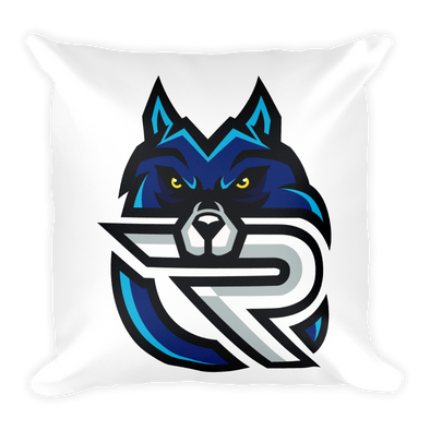 Rapid eSports Square Pillow With Stuffing - White