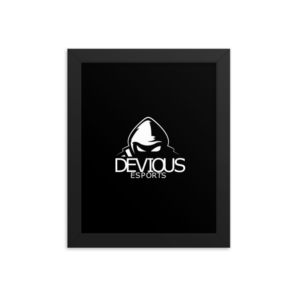Devious eSports Photo Paper Poster With Frame - Black