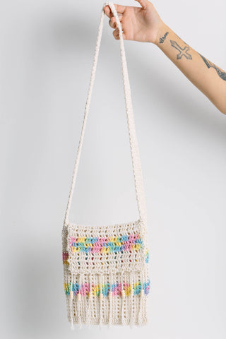 Rainbow Crochet Sling Bag