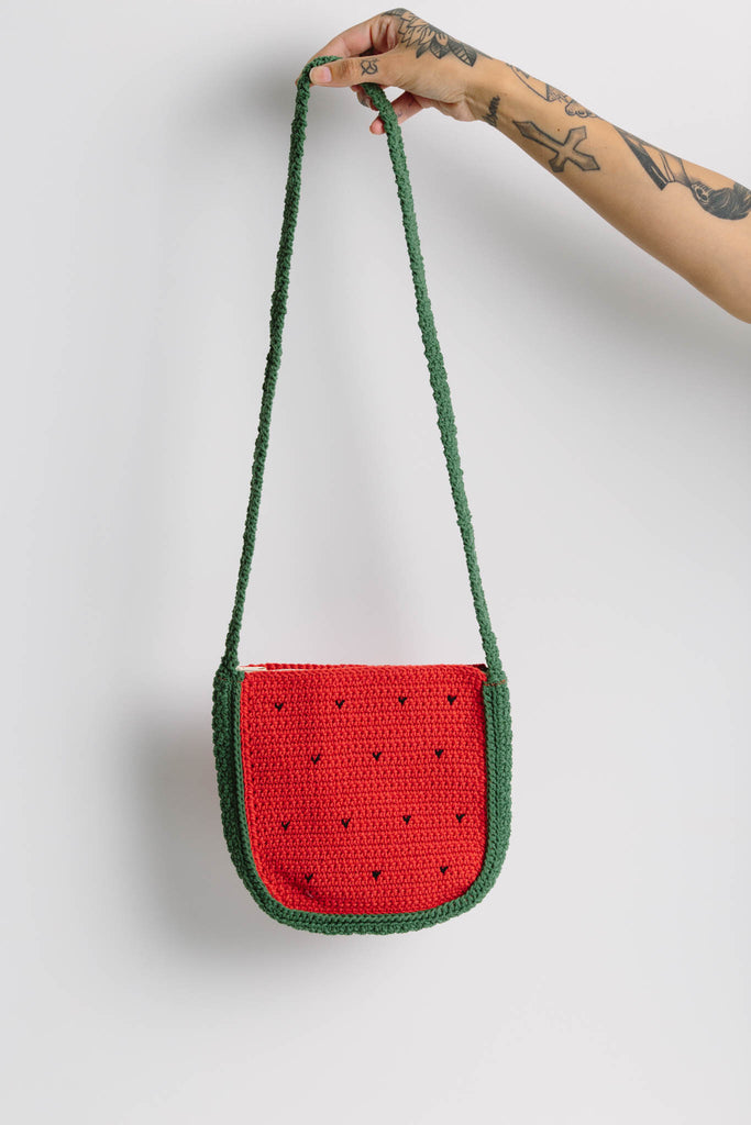 Watermelon Crochet Sling Bag
