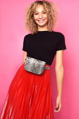 Soho Snake Print Belt Bag