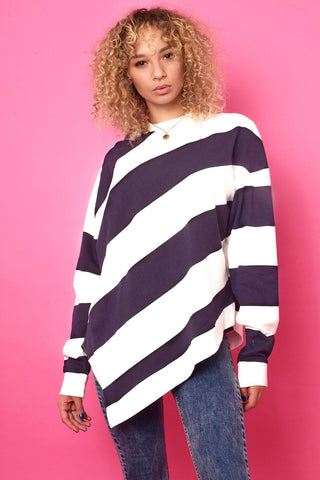Triangle Oversized Sweater - Navy