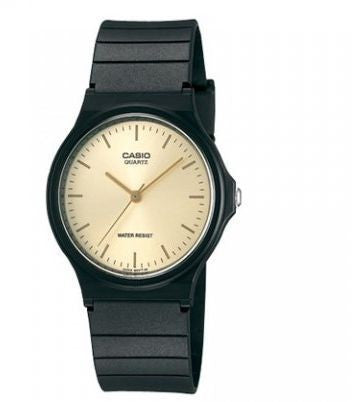 CASIO - BLACK & GOLD ANALOG WRIST WATCH