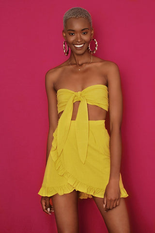 Mellow Yellow Wrap Skirt