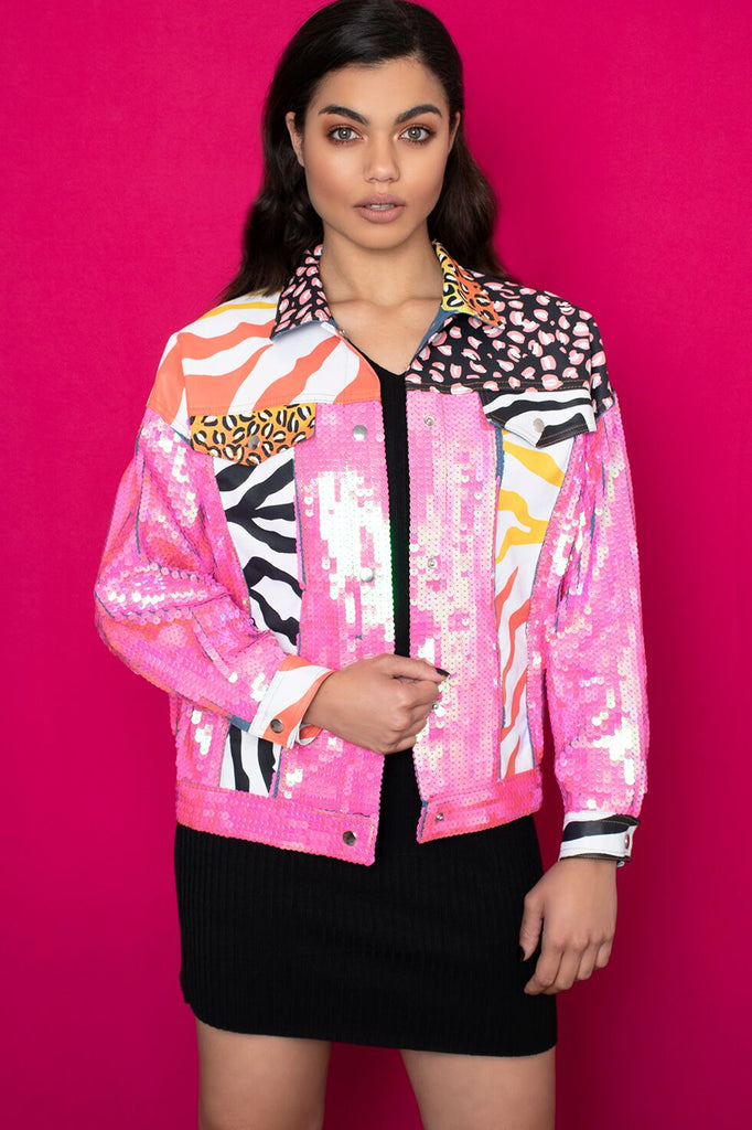 Meow Sequinned Jacket