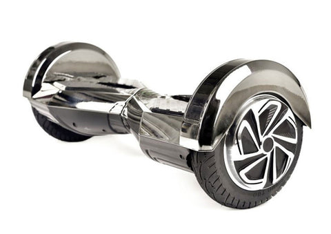 "Black 8"" Chrome Swegway Hoverboard (Bluetooth)"