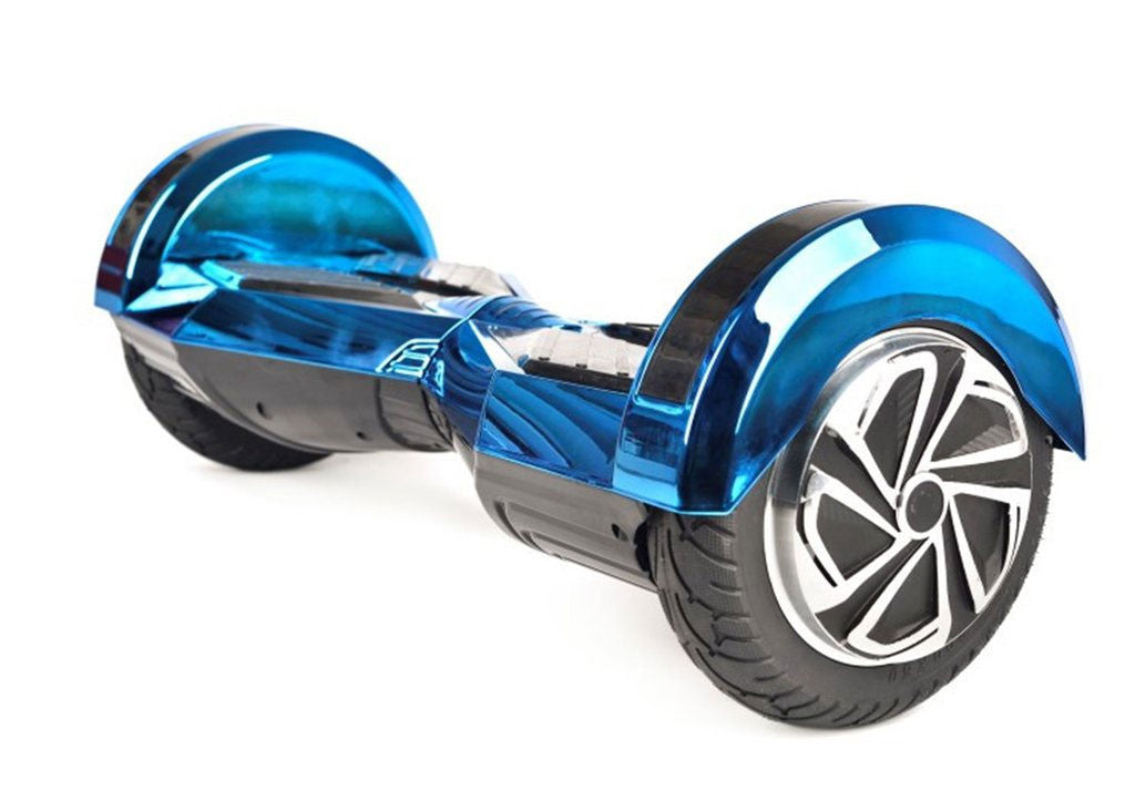"Blue 8"" Chrome Swegway Hoverboard (Bluetooth)"