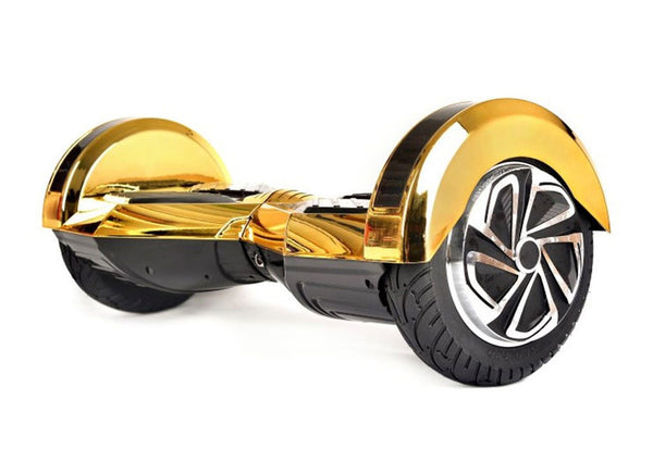 "Gold 8"" Chrome Swegway Hoverboard (Bluetooth)"
