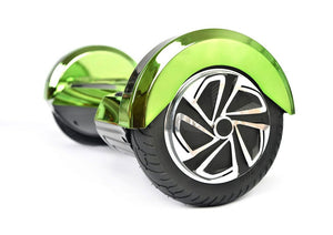 "Green 8"" Chrome Swegway Hoverboard (Bluetooth)"