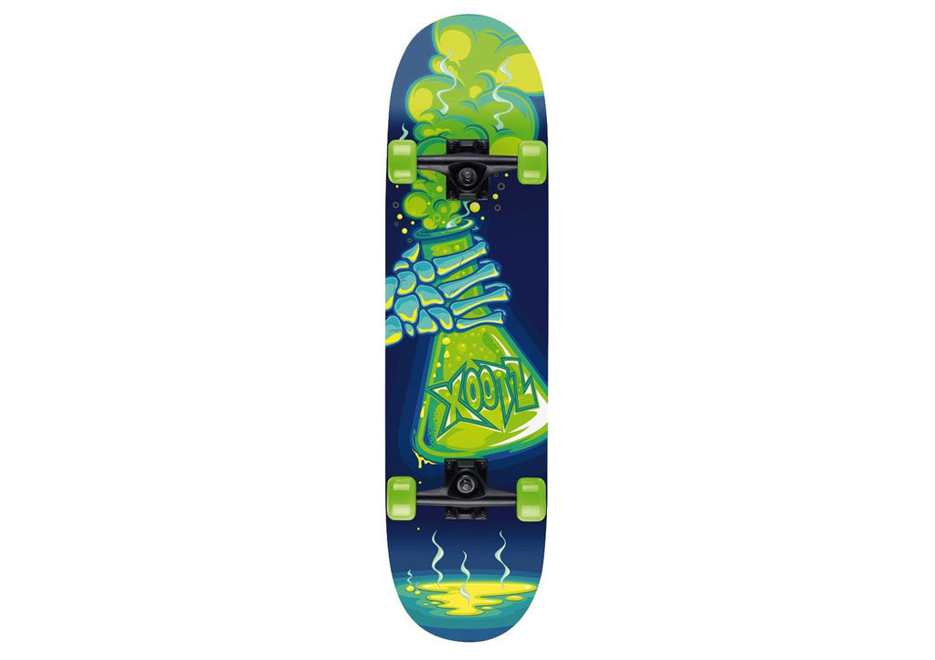 "Poison Print Xootz Kids Double Kick Skateboard (31"")"