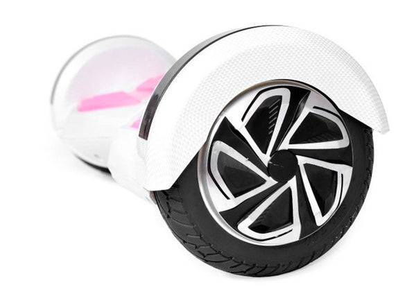 "Pink & White 8"" Swegway Hoverboard (Bluetooth)"