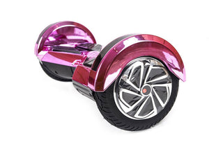 "Pink 8"" Chrome Swegway Hoverboard (Bluetooth)"