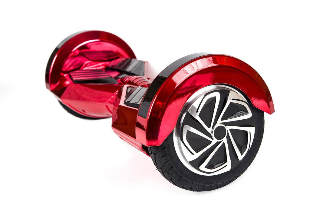 "Red 8"" Chrome Swegway Board (Bluetooth)"