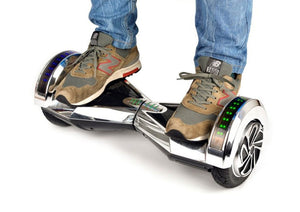 "Silver 8"" Chrome Swegway Hoverboard (Bluetooth)"