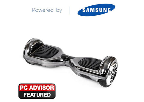"Black 6"" Chrome Swegway Hoverboard (Bluetooth)"