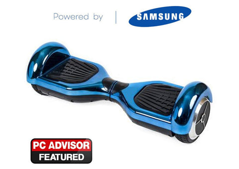 "Blue 6"" Chrome Swegway Hoverboard (Bluetooth)"