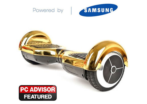 "Gold 6"" Chrome Swegway Hoverboard (Bluetooth)"