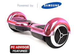 "Pink 6"" Chrome Swegway Hoverboard (Bluetooth)"