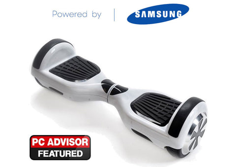 "White 6"" Swegway Hoverboard + FREE carry bag"